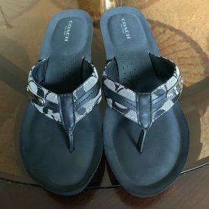 Coach Shoes - Coach Wedge Flip Flop Sandals Size 9🚫Price Firm🚫